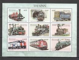 N789 REPUBLIQUE CENTRAFRICAINE TRAINS 1KB MNH - Treinen