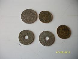 Lot De 5 Pièces Empire Chérifien - Monnaies & Billets