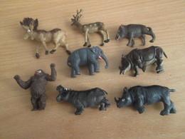 PUB719 : ANIMAUX SAUVAGES DE MARQUE PRIOR 8 FIGURINES TOUTES DIFFERENTES - Figurines
