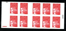 Carnet LUQUET - La Poste - Type 1 - Carré Noir Haut + RE Bas (n°99) - RR - Lot 12 - Postzegelboekjes