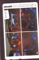 Télécarte Japon *  (2208) OLIVETTI * MILTON GLASER * Japan Painting * Phonecard * KUNST * Telefonkarte - Pittura