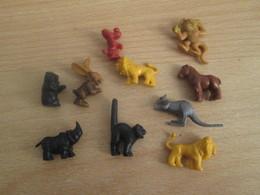 PUB719 : ANIMAUX DE PETITE TAILLE (2 Cm Environ) EN PLASTIQUE SOUPLE ANNEES 70 ORIGINE INCONNUE - Figurines