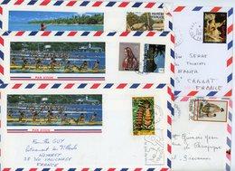 POLYNESIE FRANCAISE LOT DE 5 LETTRES AVION - Lettres & Documents