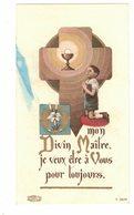 MON DIVIN MAÎTRE JE VEUX ÊTRE A VOUS IMAGE PIEUSE RELIGIEUSE  HOLY CARD SANTINI HEILIG PRENTJE - Devotion Images
