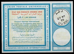 DUBAI / Emirats Arabes Unis United Arab Emirates Vi21 1,00 DIRHAM Int. Reply Coupon Reponse Antwortschein IRC IAS O DUB - Dubai