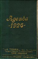 """B 2576 - Agendina """"La Terra"""", 1926, Assicurazioni Grandine, Milano - Calendari"""