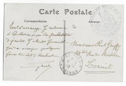1915 - CARTE FM De La PLACE De BELLE-ILE EN MER (MORBIHAN) (CAMP PRISONNIERS DE GUERRE ALLEMANDS) - Postmark Collection (Covers)