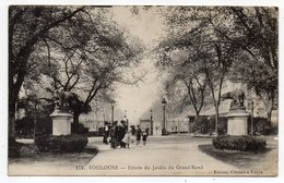 TOULOUSE-- Entrée Du Jardin Du Grand Rond (animée)...........à  Saisir - Toulouse