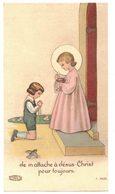 JE M'ATTACHE A JESUS CHRIST POUR TOUJOURS IMAGE PIEUSE RELIGIEUSE  HOLY CARD SANTINI HEILIG PRENTJE - Devotion Images