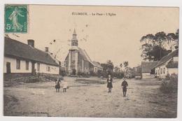 62 ECLIMEUX  -  Place Eglise  - Vandal Photographe à Auchy Les Hesdin  - CPA  9x14  N/B  BE - France