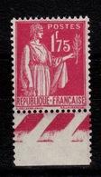 Serie YV 289 N** Type Paix Cote 22 Euros - 1906-38 Semeuse Con Cameo