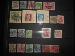 France Alsace-lorraine , Lot De 20 Timbres Obliteres De Colmar, Metz, Munster, Thann - Alsace-Lorraine
