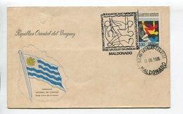 URUGUAY - XXIII CAMPEONATO SUDAMERICANO NATACION, SALTO, POLO ACUATICO. AÑO 1976, SOBRE PRIMER DIA ENVELOPE FDC - LILHU - Uruguay