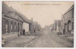 62 ECOURT SAINT QUENTIN   -  Grande Rue  - CPA  9x14  N/B  BE - France