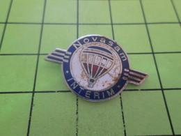 316B Pins Pin's / Rare & Belle Qualité THEME MONTGOLFIERES / BALLON LIBRE D'aller Prendre Une Douche NOVASAM INTERIM - Montgolfières