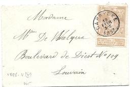 LE0018 - N° 72 Càd  CAPRYCKE 19 SEPT 1897 S/petite Enveloppe Carte De Visite V. Louvain. TB - 1894-1896 Exhibitions