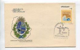 URUGUAY - EXPOSICION FILATELICA BRASILIANA '83. AÑO 1983, SOBRE PRIMER DIA ENVELOPE FDC - LILHU - Uruguay