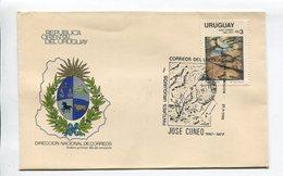 URUGUAY - JUSE CUNEO, PINTOR URUGUAYO. AÑO 1983, SOBRE PRIMER DIA ENVELOPE FDC - LILHU - Uruguay