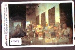 Télécarte Japon *  (2209) OLIVETTI * LAST SUPPER * Japan Painting * Phonecard * KUNST * Telefonkarte - Pittura