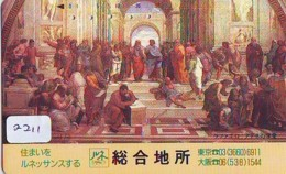 Télécarte Japon * ART  (2211)   * Japan Painting * Phonecard * KUNST * Telefonkarte - Pittura