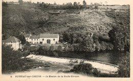 23. CPA. BUSSEAU SUR CREUSE.  Le Moulin De La Roche étroite.  1934. - Frankrijk
