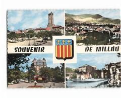 12 Millau Carte 4 Vues Place Emma Calve Mandarous Pont Lerouge Vue Generale CPSM GF Edit Estel N°21023 Photo - Millau