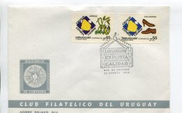 URUGUAY EXPORTA CALIDAD, CALZADO, ARROZ. AÑO 1988, SOBRE PRIMER DIA ENVELOPE FDC - LILHU - Uruguay