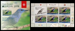 MALTA 2019 EUROPA BIRDS Booklet Of 5 Stamps MNH ** - 2019
