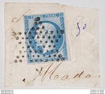 France,1854,20c,Y&T N.14. Très  Belle Oblitération Etoile De Paris - 1853-1860 Napoleon III