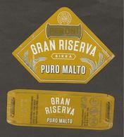 ITALIA - Etichetta Birra Beer Bière PERONI Gran Riserva Puro Malto - Birra