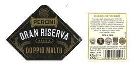 ITALIA - Etichetta Birra Beer Bière PERONI Gran Riserva Doppio Malto - Birra