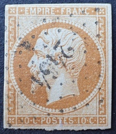 R1568/9 - NAPOLEON III N°13Ab Bistre Orange - PC 2464 : PLOMBIERES (Vosges) Indice 4 - 1853-1860 Napoleon III