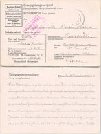 KRIEGSGELANGENENPOST DECEMBRE 1942  STAMMLAGER VII B TO FRANCE - Covers & Documents