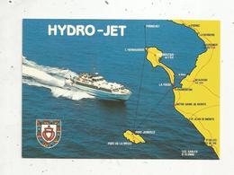 Cp ,bateau , Ferry , HYDRO-JET Amiral De JOINVILLE ,  écrite 1988, Ed. Artaud - Ferries
