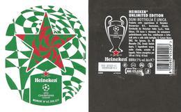 OLANDA - Etichetta Birra Beer Bière HEINEKEN Sponsor CHAMPIONS LEAGUE - Birra