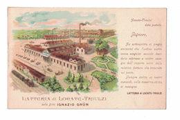 CARTOLINA POSTALE CARTE POSTALE LATTERIA DI LOCATE TRIULZI DELLA DITTA IGNAZIO GRUN - Pubblicitari