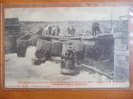 CPA - Inondations à Fontaine-Valmont (Belgique) Le 26 Février 1906 -Piles Du Déversoir Effondrées Après La Catastrophe - Überschwemmungen
