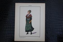 DH / For-18x23,5 Cm. Costumes Régionaux Par P. L. De GIAFFERRI-[73] Savoie. Jeune Femme Endimanchée à  Bourg-St-Maurice - Costumes