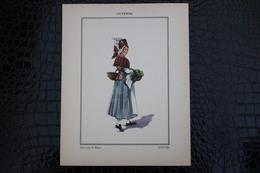 DH / For-18x23,5 Cm. Costumes Régionaux Par P. L. De GIAFFERRI - Guyenne, [33] Gironde  - Paysanne De Blaye - Costumes