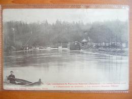 CPA - Inondations à Fontaine-Valmont (Belgique) Le 26 Février 1906 -bateau Coule Et Effondrement Du Déversoir - Überschwemmungen