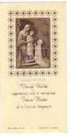 CELLULOÏD FIN : VIERGE SAINTE APPRENEZ MOI A REMERCIER IMAGE PIEUSE RELIGIEUSE  HOLY CARD SANTINI HEILIG PRENTJE - Andachtsbilder