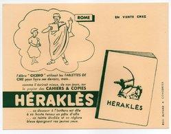 - BUVARD CAHIERS & COPIES HÉRAKLÈS - ROME - - Stationeries (flat Articles)