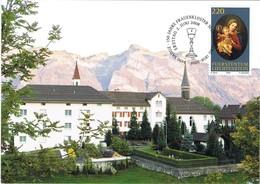 33456. Tarjeta Maxima VADUZ (Liechtenstein) 2008. 150 Jahre Frauenkloster SCHELLENBERG - Cartas Máxima