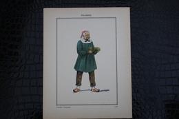 DH / For-18x23,5 Cm. Costumes Régionaux Par P. L. De GIAFFERRI -  [80] Somme - Picardie, Vendeur D'asperges - Costumes