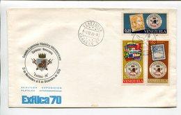 VENEZUELA - SEGUNDA EXPOSICION FILATELICA INTERAMERICANA. AÑO 1970, SOBRE DIA DE EMISION ENVELOPE FDC - LILHU - Venezuela