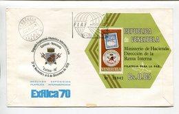 VENEZUELA - MINISTRO DE HACIENDA DIRECCION DE LA RENTA INTERNA. AÑO 1970, SOBRE DIA DE EMISION ENVELOPE FDC - LILHU - Venezuela