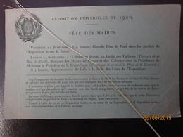 1900 Rare Exposition Universelle Fete Maires Voir Explication   Reduction Train ----- 19 Meni - Chemins De Fer
