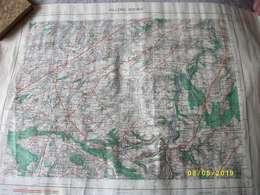 1 Carte De VILLERS BOCAGE 1959 56x72cms TBE - Cartes Topographiques