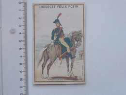 CHROMO BELLE JARDINIERE: MILITAIRE Officier Des Guides D'Egypte 1799 - Soldat - Chocolat Félix POTIN - Chocolate