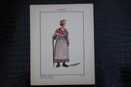 DH / For-18x23,5 Cm. Costumes Régionaux Par P. L. De GIAFFERRI - Dauphiné,[38]Isère Marchande De Folliets Proveysieux - Costumes
